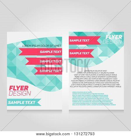 Brochure flier design template. Vector poster illustration. Leaflet cover layout in A4 size.