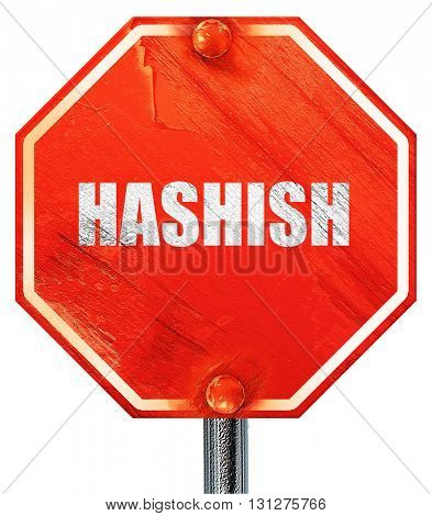 hashish, 3D rendering, a red stop sign