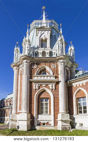 One of the towers of the palace in Tsaritsyno. Moscow