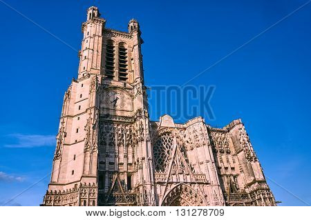 Gothic Cathedral of the Saint-Pierre-et-Saint-Paul in Troyes in France