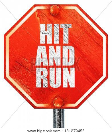 hit and run, 3D rendering, a red stop sign