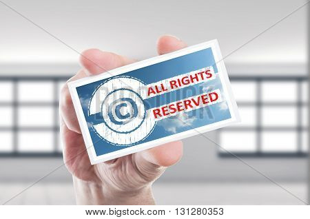 Copyright All Rights Reserved Concept