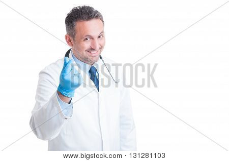 Medic Or Doctor Asking For Money And Bribe Gesture