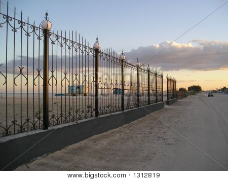 Fence With Lanterns