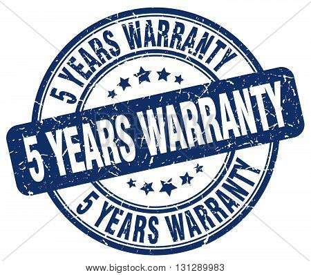 5 years warranty blue grunge round vintage rubber stamp.5 years warranty stamp.5 years warranty round stamp.5 years warranty grunge stamp.5 years warranty.5 years warranty vintage stamp.