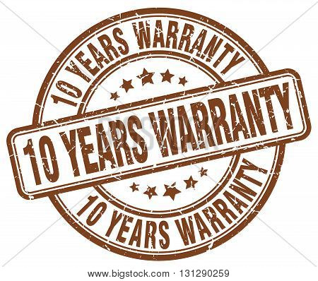 10 years warranty brown grunge round vintage rubber stamp.10 years warranty stamp.10 years warranty round stamp.10 years warranty grunge stamp.10 years warranty.10 years warranty vintage stamp.