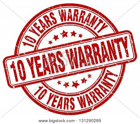 10 years warranty red grunge round vintage rubber stamp.10 years warranty stamp.10 years warranty round stamp.10 years warranty grunge stamp.10 years warranty.10 years warranty vintage stamp. poster