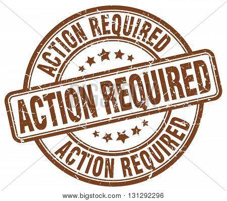 action required brown grunge round vintage rubber stamp.action required stamp.action required round stamp.action required grunge stamp.action required.action required vintage stamp. poster