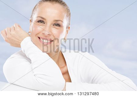 Woman on summer holiday