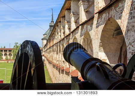 KIRILLOV, RUSSIA - MAY 28, 213: This is fortress of Kirillo-Belozersky Monastery which was in the 15-17 centuries one of the largest and richest monasteries of the Russian North.