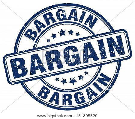 bargain blue grunge round vintage rubber stamp
