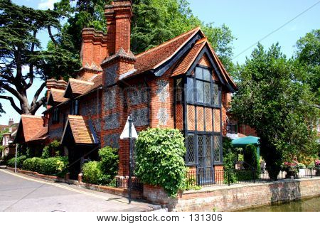 Traditional Brick And Flint Cottage