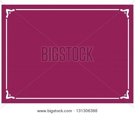 Beautiful crimson red vector vintage border frame