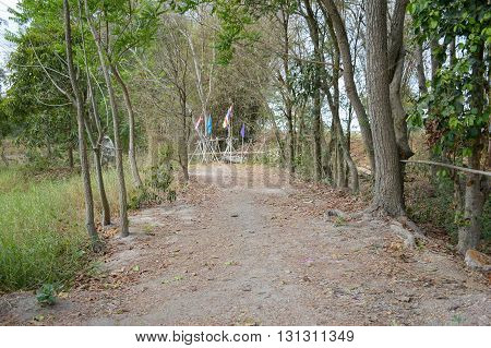 walkway natural existence and use of the home in Nakhon Nayok Thailand