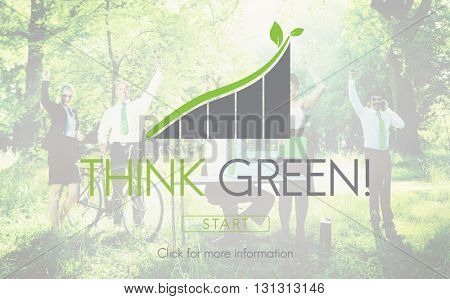 Think Green Business Environment Ecology Concept