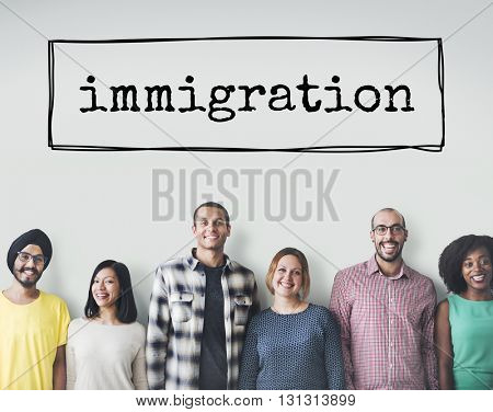 Immigration Immigrants Migrate Move Aboard Concept