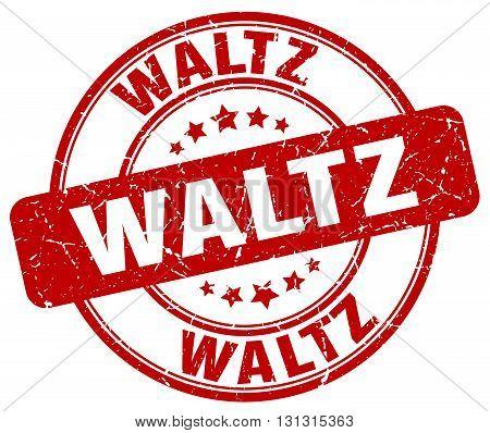 Waltz Red Grunge Round Vintage Rubber Stamp.waltz Stamp.waltz Round Stamp.waltz Grunge Stamp.waltz.w