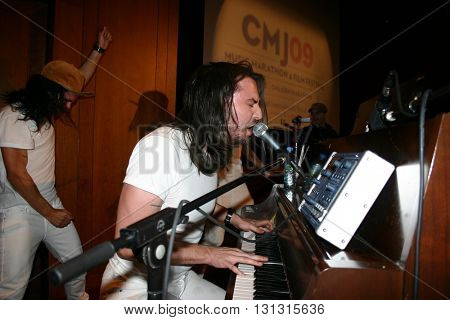 New York Ny: Oct 21, 2009: Musician Andrew W.k. Performing With Fans During The Keynote Address For