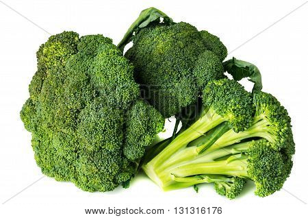 Broccoli close-up isolated on white background a thorough review