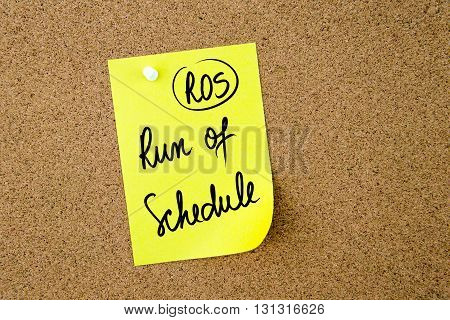 Business Acronym Ros Run On Schedule