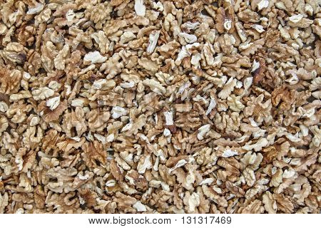 Detail of the kernels of walnut - the source of vitamins and minerals
