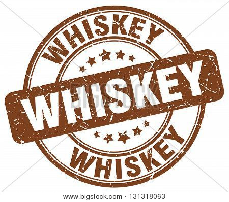 Whiskey Brown Grunge Round Vintage Rubber Stamp.whiskey Stamp.whiskey Round Stamp.whiskey Grunge Sta
