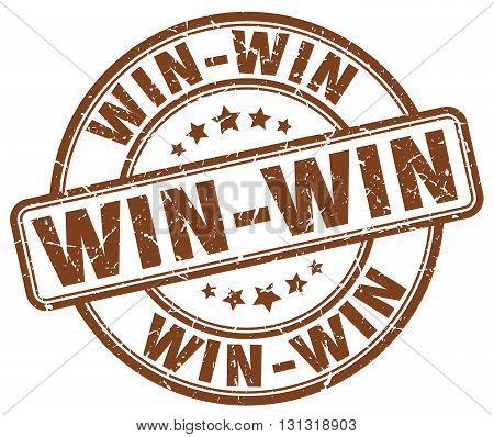 Win-win Brown Grunge Round Vintage Rubber Stamp.win-win Stamp.win-win Round Stamp.win-win Grunge Sta