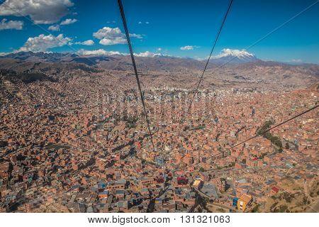 La Paz Bolivia - City view of La Paz