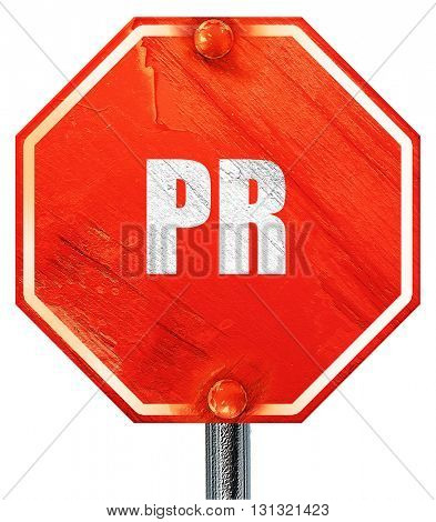 pr, 3D rendering, a red stop sign