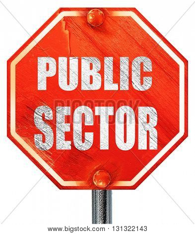 public sector, 3D rendering, a red stop sign