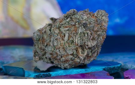 Medicinal Medical Marijuana hybrid mix of sativa and indica very relaxing head buzz.