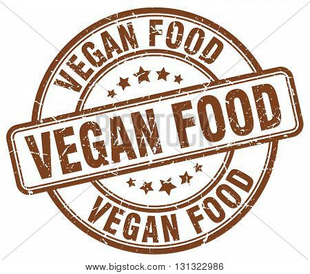 Vegan Food Brown Grunge Round Vintage Rubber Stamp.vegan Food Stamp.vegan Food Round Stamp.vegan Foo