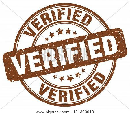 Verified Brown Grunge Round Vintage Rubber Stamp.verified Stamp.verified Round Stamp.verified Grunge