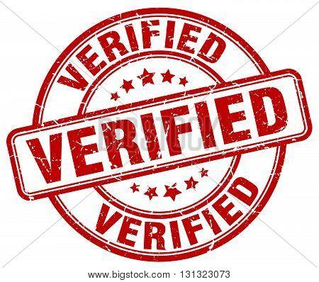 Verified Red Grunge Round Vintage Rubber Stamp.verified Stamp.verified Round Stamp.verified Grunge S