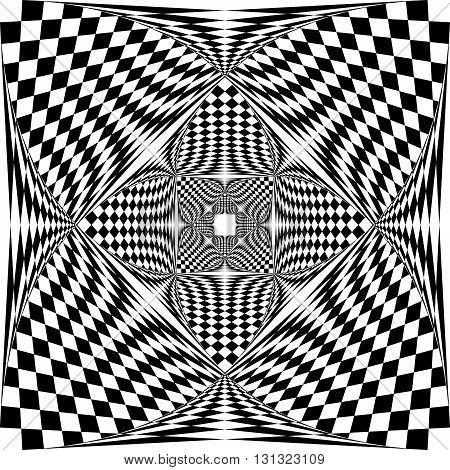 Spherical fence design on descending perspective black on transparent