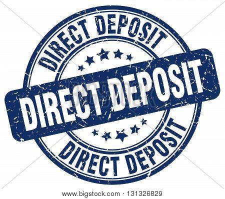 direct deposit blue grunge round vintage rubber stamp.direct deposit stamp.direct deposit round stamp.direct deposit grunge stamp.direct deposit.direct deposit vintage stamp.