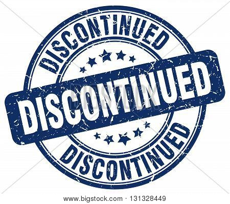 discontinued blue grunge round vintage rubber stamp.discontinued stamp.discontinued round stamp.discontinued grunge stamp.discontinued.discontinued vintage stamp.