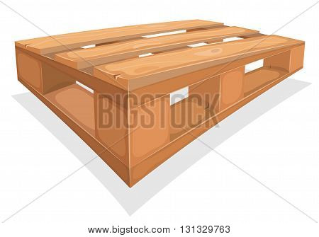 Illustration of a cartoon wood palette for warehouse stockconstruction site and dockyard