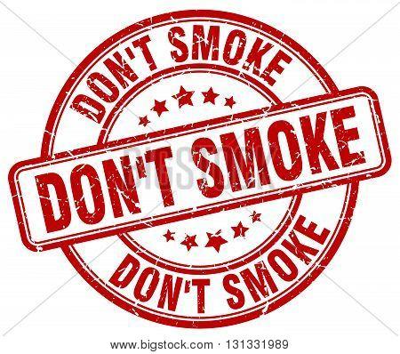don't smoke red grunge round vintage rubber stamp.don't smoke stamp.don't smoke round stamp.don't smoke grunge stamp.don't smoke.don't smoke vintage stamp.
