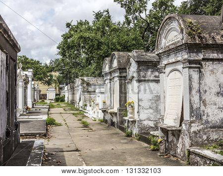 Grave Site At The Saint Louis La Fayette Cemetery No 1