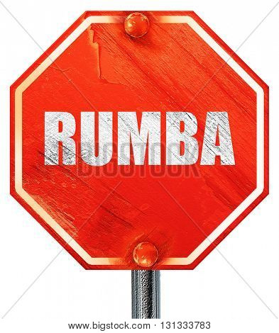 rumba dance, 3D rendering, a red stop sign