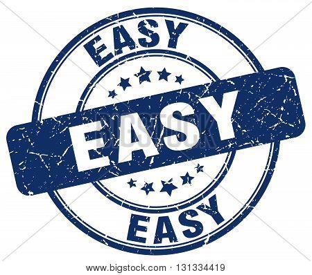 easy blue grunge round vintage rubber stamp.easy stamp.easy round stamp.easy grunge stamp.easy.easy vintage stamp.