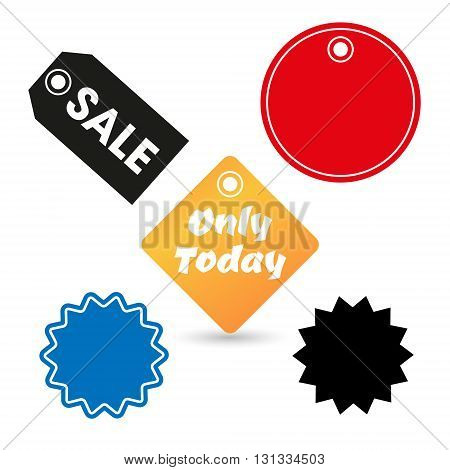 Vector icon illustration barcode. Button qrcode, tag discount. isolated on white background.
