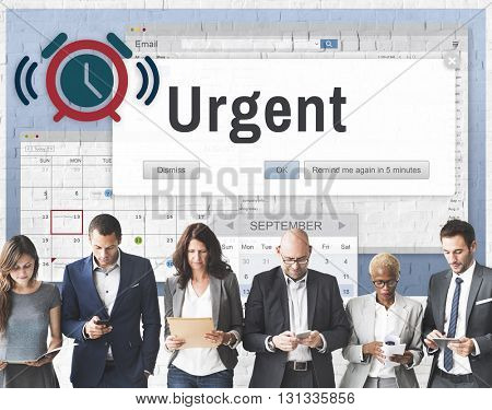 Urgent Necessary Important Immediately Urgency Priority Concept poster