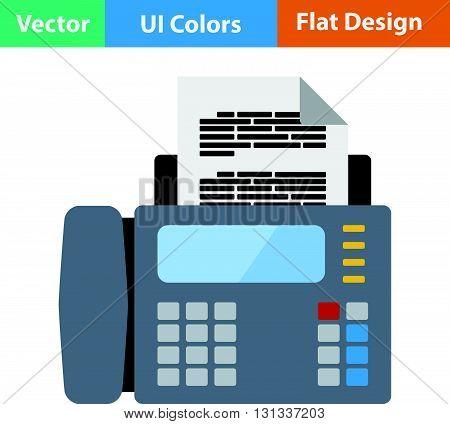 Fax icon. Flat design ui colors.. Vector illustration.