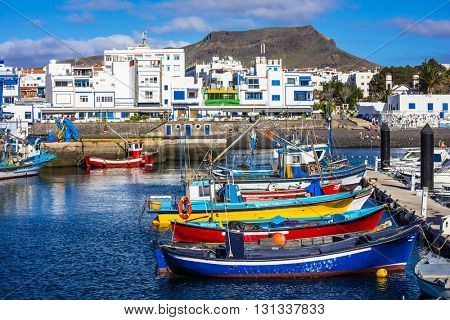 Puerto de las nieves - traditional fishing village in Gran Canaria