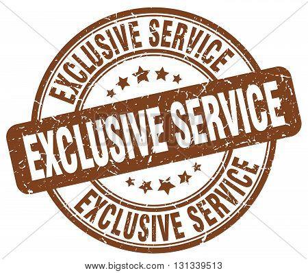 exclusive service brown grunge round vintage rubber stamp.exclusive service stamp.exclusive service round stamp.exclusive service grunge stamp.exclusive service.exclusive service vintage stamp.