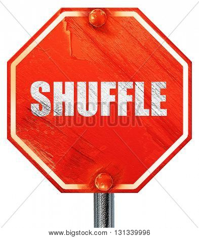 shuffle dance, 3D rendering, a red stop sign