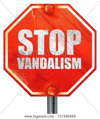 stop vandalism, 3D rendering, a red stop sign