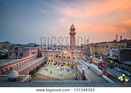View of Sunehri Masjid located at Sunehri masjid road Peshawar ,Pakistan.